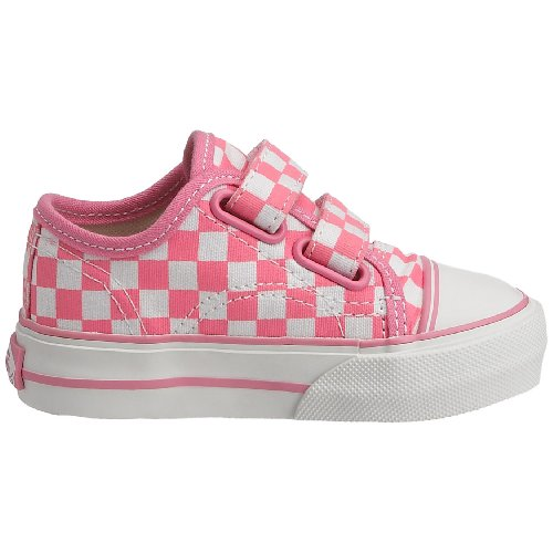Vans Big Skate - Zapatillas con cierre de velcro rosa/blanco (cuadros)