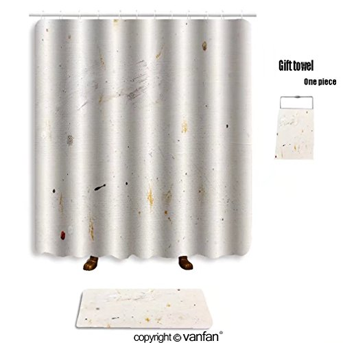 vanfan bath sets with Polyester rugs and shower curtain colorful grunge textured hand painted art abs shower curtains sets bathroom 40 x 72 inches&23.6 x 15.7 inches(Free 1 towel and - Gosling Ryan Abs
