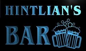 w144248-b HINTLIAN Name Home Bar Pub Beer Mugs Cheers Neon Light Sign