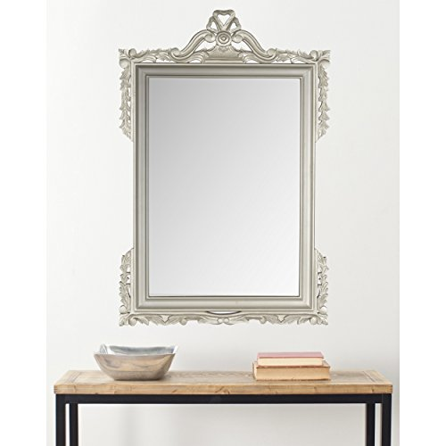 Safavieh Home Collection Pedimint Mirror, Pewter by Safavieh