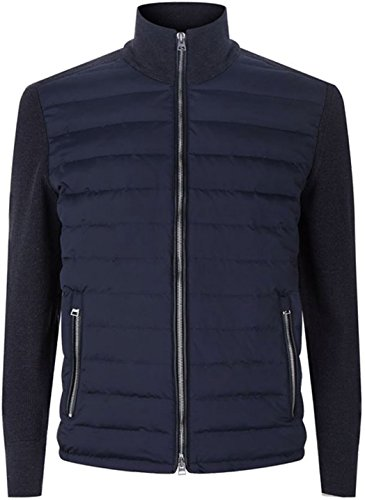 Spectre James Bond Tom Ford Knitted Sleeve - Daniel Craig Bomber Black Jacket (Blue, L/Body Chest = 42