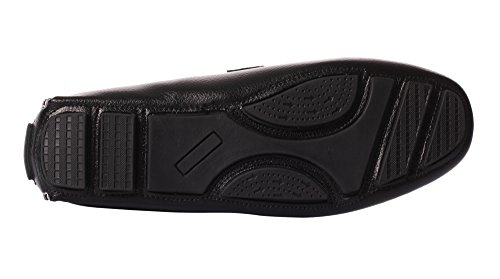 Ujoowalk Mens Casual Slip-on Driving Dress Mocassino Scarpe Nere