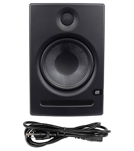 Package: (2) Presonus Eris E8 8'' High-Definition 2-Way Active Near Field Studio Monitors With a 1'' Silk Dome Tweeter + Pair of Rockville RVSM1 Heavy Duty Near-Field Studio Monitor Stands + Presonus Temblor T8 200 watt 8'' Active Powered Studio Subwoofer wi
