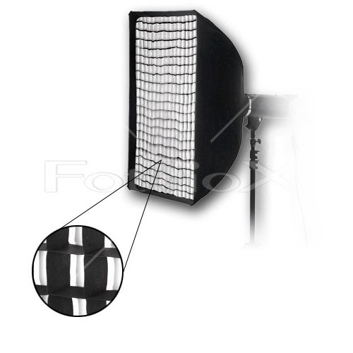 """Fotodiox Pro 24x36"""" Softbox PLUS Grid (Eggcrate) for Studio Strobe/Flash with Soft Diffuser and Dedicated Speedring, for Speedotron Black Line 202VF, 206VF, 102, 103, 105, Brown line MW3R, MW3U, MW3UQ, M90, M90Q, M11 Strobe Flash Light"""