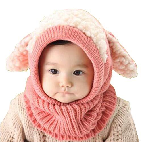 Dongtu Catoon Dog Shape Kids Winter Knitted Hood Scarf Beanie Hats & Caps