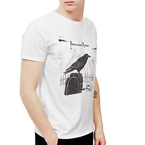 T-shirt Nevermore Raven Black Bird Halloween Spooky Men's
