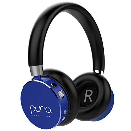 Puro Sound Labs Premium Kids Headphones, Volume Limiting Bluetooth Wireless Headphones for Children, Girls and Boys (Blue)
