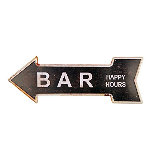 New Deco Bar Metal Tin Signs With Rustic Retro Arrow Decorative Sings For Cafe Pub 16.9x6 inches - Sign Pub Bar Decor