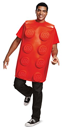 Lego Brick Halloween Costume (Disguise Unisex Red Brick Adult Costume,)