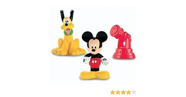 Fisher-Price Disney Mickey Mouse Club House Classic - Juego de Figuras (Mickey, Pluto y telescopio): Amazon.es: Juguetes y juegos