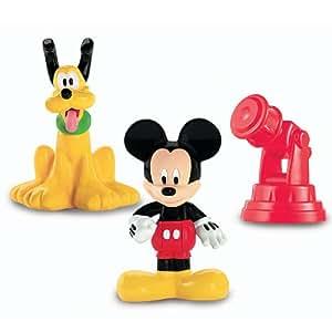 Fisher Price Disney Mickey Mouse Club House Classic - Juego de figuras (Mickey, Pluto y telescopio)