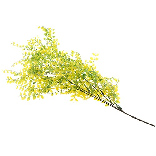 Homyl 60cm - 75cm Artificial Greenery Vine Ivy Leaves Grass Weeping Willow Garland Hanging Wedding Party Flower Bunch Bouquet Bridal Decor - 5 Color PICK - Olivine, as described