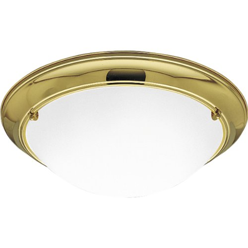Progress Lighting P3564-10EB Eclipse Close-to-Ceiling Fixture, Polished Brass