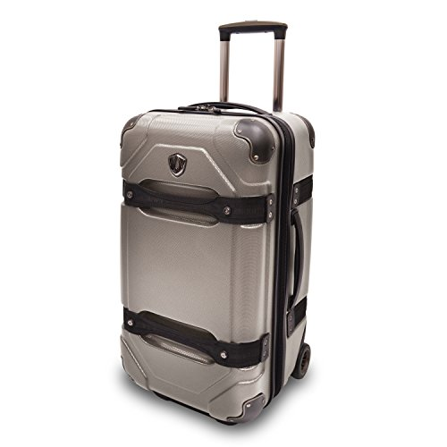 travelers-choice-24-inches-polycarbonate-luggage-trunk-charcoal-tc09025g