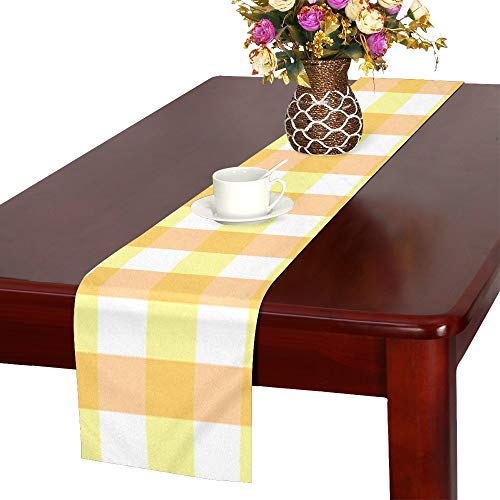 WBSNDB Scrapbook Scrapbooking Checks Gingham Paper Table Runner, Kitchen Dining Table Runner 16 X 72 Inch for Dinner Parties, Events, Decor