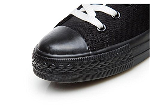 High Zipper Shoes Eu Male 43 Canvas Luminous Shoes Side 35 Shoes Size Boots Shoes Comfortable Shoes Pedal Luminous Shoelaces Female And Size Flat Couple Large Black Casual Onfly 0gXIq6n