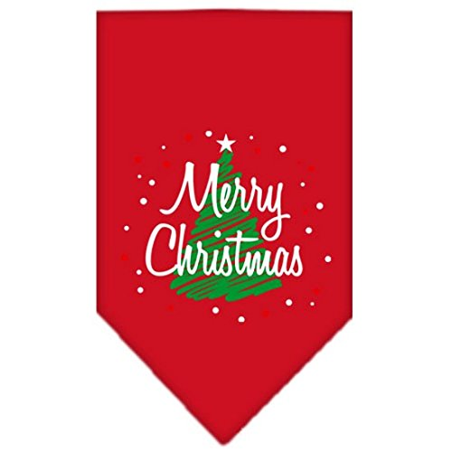 Red Bandana Pet Stores (Mirage Pet Products Scribble Merry Christmas Screen Print Bandana for Pets, Small,)