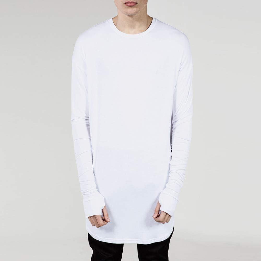 YpingLonk Camiseta Hombre Hip Hop Color Sólido Suelto Otoño Crew ...
