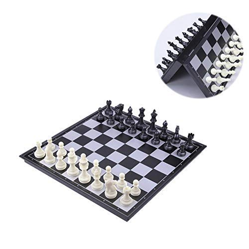(Ceasyde Magnetic Board Chess Set, 12.6 Inch Deluxe Folding Portable Travel Traditional Chess Game for Kids and Adults, A Perfect Educational Gift)