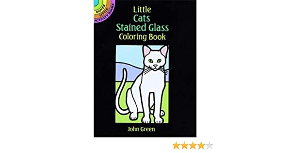 Amazon Little Cats Stained Glass Coloring Book Toys Games