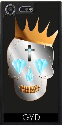 Funda Silicona para Sony Xperia XZ Premium - Cráneo Del Rey by Max Taylors