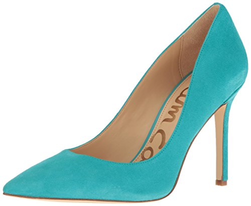 Edelman Sam Dress Women''s Suede Pump Hazel Blue Gulf pCTwCq