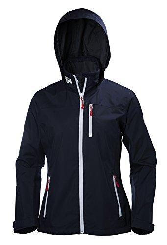 Helly Hansen Women's Crew Hooded Midlayer Jacket, Navy, Large