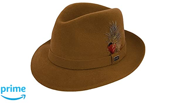 253caff57a2b1 Dobbs Broadstreet Velour Fedora (7 1 8) at Amazon Men s Clothing store