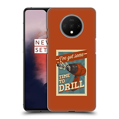 Official Lantern Press Time to Drill Man Cave Hard Back Case Compatible for OnePlus 7T