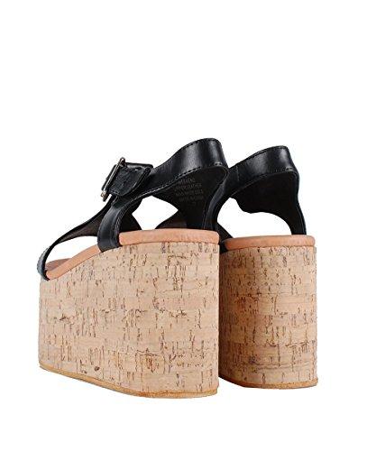 Jeffrey Campbell Weekend Sandals Black–Sandalias negras Zeppa negro