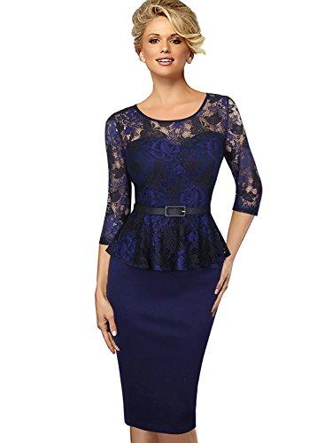 Buy belted lace sheath dress - 4