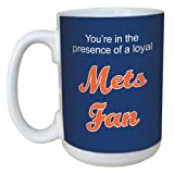 : Tree-Free Greetings lm44094 Mets Baseball Fan Ceramic Mug with Full-Sized Handle, 15-Ounce
