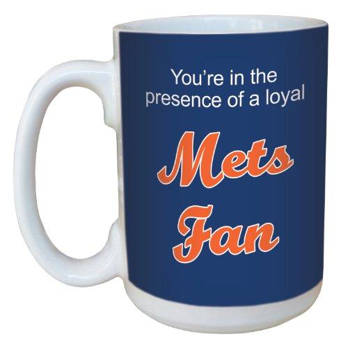 Tree-Free Greetings lm44094 Mets Baseball Fan Ceramic Mug with Full-Sized Handle, 15-Ounce