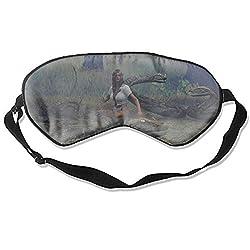 Fantasy Women Eye Mask for Sleeping Puffy Eyes, Travel, Meditation, Insomnia & Migraine. Soft Night Blindfold & Adjustable Band