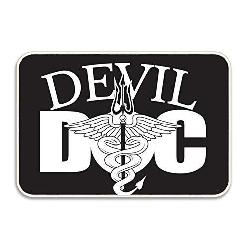 (US Navy Devil Doc Door Mat Floor Mat Rug Indoor/Outdoor/Front Door/Bathroom Mats)