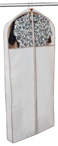 Smart Design Cedar Canvas Gusseted Dress Garment Bag w/ Vinyl Window - Includes Cedar Wood Moth, Mildew, & Must Repellent - for Dresses, Coats, & Pants Storage - (24 x ()