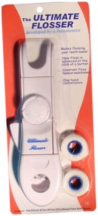 The ultimate Flosser Zahnseidenhalter + 2 x 27m Zahnseide
