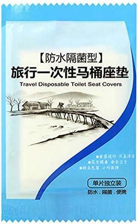 50ピース使い捨てトイレパッドクッションプラスチック肥厚旅行観光母体トイレカバー防水細菌クッション