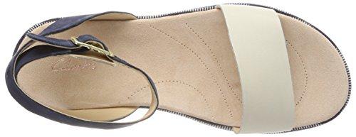 Clarks Ivy Caviglia Blu Sandali Donna con alla Combi Cinturino Botanic Navy 7r5xq67