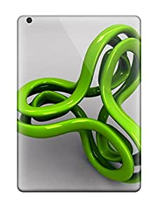 New Style Fashionable Style Case Cover Skin For Ipad Air- Green Loop 3289435K12134363