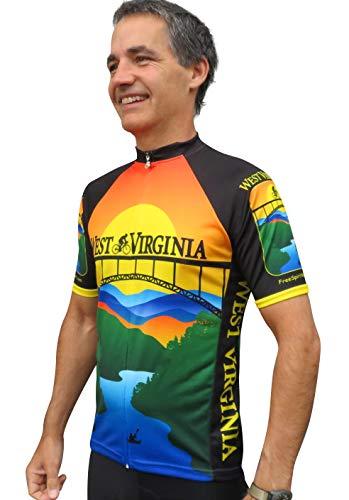 - Free Spirit Wear West Virginia Bike Jersey Large