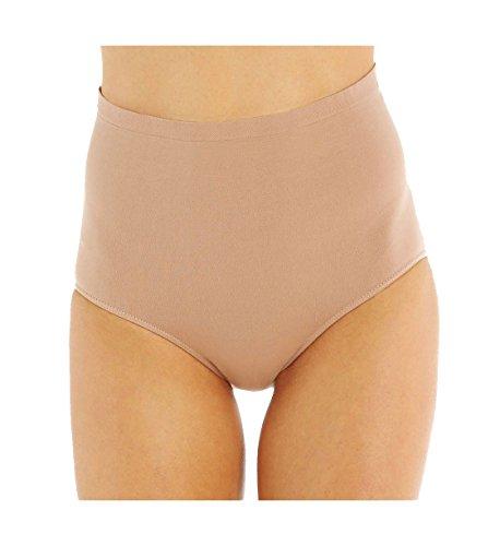 Rhonda Shear High Waisted Seamless Brief Panty 4230 Nude XL