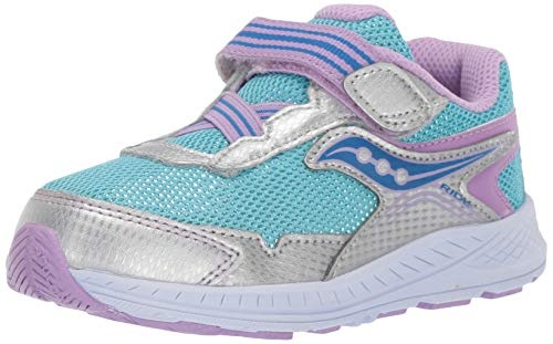 - Saucony Girls' Ride 10 JR Sneaker Silver/Blue 110 Extra Wide US Little Kid