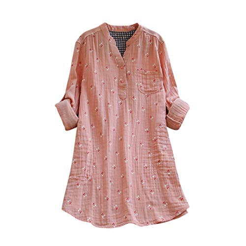 - YOcheerful Womens Shirt, Women Cat Print Vintage Blouse Top Lady Spring Summer Tunic Long Sleeve Tee Plus Size Top