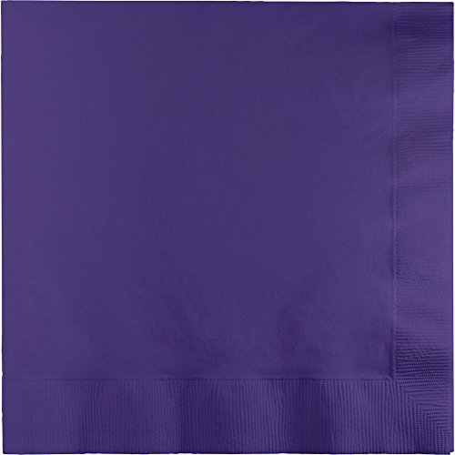 Creative Converting 240-Count Touch of Color Paper Cocktail Napkins, Purple ()