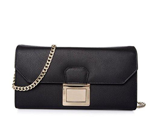 Bolso De Cuero Genuino De Las Mujeres Pequeño / Micro Bolso De Hombro Del Cuerpo Bolso Del Bolso Cadena Del Embrague (7 Colores) Black
