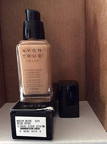 - Avon TRUE Color Ideal Flawless Liquid Foundation broad spectrum SPF 15 sunscreen MEDIUM BEIGE
