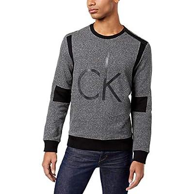 Calvin Klein Jeans Mens Colorblock Logo Print Pullover Sweater