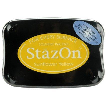 - Tsukineko Full-Size StazOn Multi-Surface Inkpad, Sunflower Yellow by Tsukineko