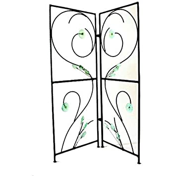 Room Divider Decorative 2 Panel Screen Recycled Glass